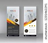 roll up banner stand brochure... | Shutterstock .eps vector #1231462291