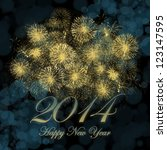 Happy New Year 2014 Background...