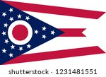 flag of ohio is a state of... | Shutterstock .eps vector #1231481551