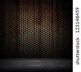 rusty metal wall   Shutterstock . vector #123148459