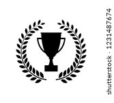 winner trophy cup icon  logo on ... | Shutterstock .eps vector #1231487674