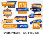 sticker sale set with abstract... | Shutterstock .eps vector #1231489531