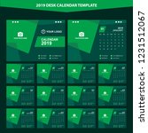 2019 desk calendar template... | Shutterstock .eps vector #1231512067