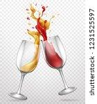 cheers realistic vector concept ... | Shutterstock .eps vector #1231525597