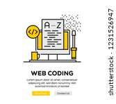 web coding infographic concept | Shutterstock .eps vector #1231526947
