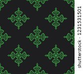 seamless decorative vector... | Shutterstock .eps vector #1231531501