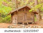 Old Solid Log Cabin Shelter...
