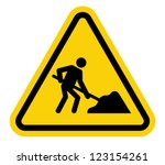 under construction road sign | Shutterstock .eps vector #123154261