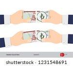 20 turkish lira banknote. hands ... | Shutterstock .eps vector #1231548691