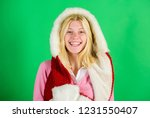 lets stay warm in fur clothing. ... | Shutterstock . vector #1231550407