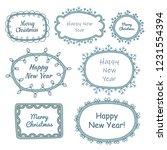 set of christmas frames. doodle ... | Shutterstock .eps vector #1231554394