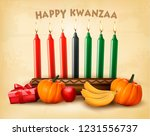 happy holiday kwanzaa... | Shutterstock . vector #1231556737