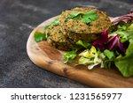 vegetarian food wheat gluten...   Shutterstock . vector #1231565977