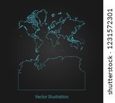continents with antarctica map  ... | Shutterstock .eps vector #1231572301