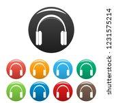 great headphones icons set 9...