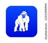 bonobo icon digital blue for... | Shutterstock .eps vector #1231590994