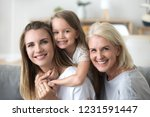 happy three women generation ... | Shutterstock . vector #1231591447
