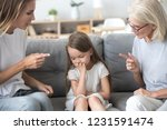 angry mother and grandmother...   Shutterstock . vector #1231591474