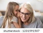 cute little granddaughter... | Shutterstock . vector #1231591507