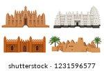 set of buildings african... | Shutterstock .eps vector #1231596577