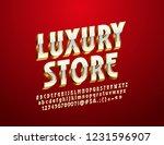 vector luxury 3d font. white... | Shutterstock .eps vector #1231596907