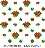 decorative winter and christmas ... | Shutterstock .eps vector #1231605424