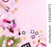 make up cosmetics  gift box and ... | Shutterstock . vector #1231610371
