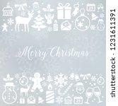 christmas decoration  ... | Shutterstock .eps vector #1231611391