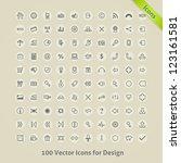 vector icons for design. | Shutterstock .eps vector #123161581