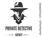 private detective logo of... | Shutterstock .eps vector #1231620034