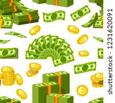 dollars and cents money... | Shutterstock .eps vector #1231620091