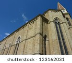 the cathedral of arezzo in... | Shutterstock . vector #123162031
