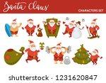 happy new year cartoon santa... | Shutterstock .eps vector #1231620847