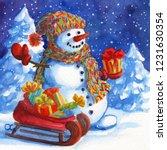 Snowman Santa Claus Helper...