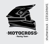 design logo helmets motocross ... | Shutterstock .eps vector #1231634641