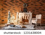 loft apartments  brick wall... | Shutterstock . vector #1231638004