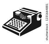 newspaper typewriter icon.... | Shutterstock .eps vector #1231664881