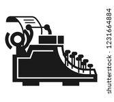 desk typewriter icon. simple... | Shutterstock .eps vector #1231664884