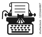 antique typewriter icon. simple ... | Shutterstock .eps vector #1231664887
