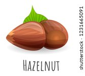 hazelnut icon. cartoon of... | Shutterstock .eps vector #1231665091