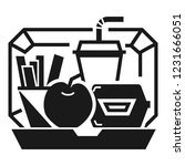 mix lunchbox icon. simple... | Shutterstock .eps vector #1231666051