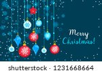 merry christmas toy tree... | Shutterstock .eps vector #1231668664