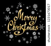 merry christmas calligraphic... | Shutterstock .eps vector #1231673017