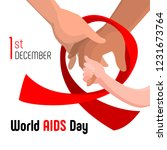 world aids day concept...   Shutterstock .eps vector #1231673764