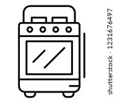 cooker stove icon. outline... | Shutterstock .eps vector #1231676497