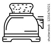 toaster icon. outline toaster... | Shutterstock .eps vector #1231676521