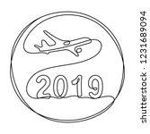 2019 year travel concept... | Shutterstock .eps vector #1231689094