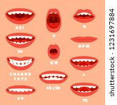 expressive cartoon mouth... | Shutterstock . vector #1231697884