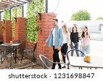multiethnic male and female... | Shutterstock . vector #1231698847