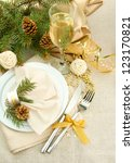 beautiful christmas setting ... | Shutterstock . vector #123170821
